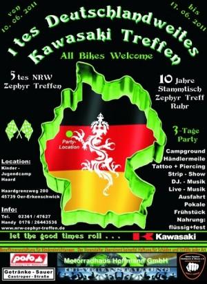 1th deutsches Kawasaki-Treffen - 1ый Немецкий слет любителей Kawasaki