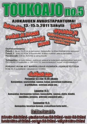 Мероприятие в Финляндии Toukoajo no.6