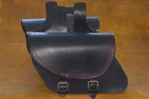 Кожаные боковые кофры для мотоцикла S 91- черный