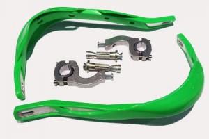 CRAZY IRON Защита рычагов для кросс и эндуро GREEN, алюминиевое основание