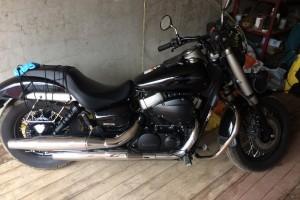 Черный металлик Honda VT 750 Shadow Phantom 2012