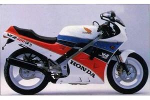 Белый Honda VFR 400 1986