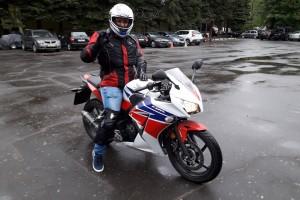 Белый Honda CBR 300 RA 2014