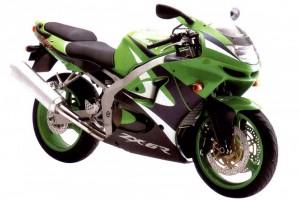 Черный Kawasaki ZX 6 R Ninja 1998
