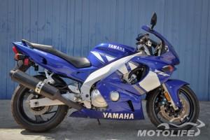 Синий Yamaha YZF 600 R Thundercat 2001