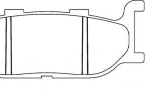 Органические тормозные колодки Brenta FT3057 за 1 300 р.