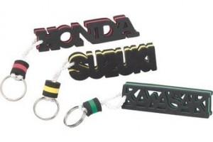 Брелок для ключей с логотипом Kawasaki, неопрен за 180 р.