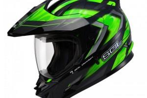 """Шлем кроссовый """"SOL SS-1 ULTIMATE"""", со стеклом, черно-зеленый за 7 990 р."""