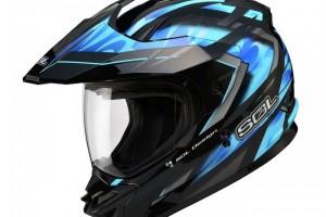 """Шлем кроссовый """"SOL SS-1 ULTIMATE"""", со стеклом, черно-синий за 7 990 р."""