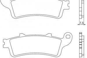 Синтетические тормозные колодки Brenta FT4023B за 2 200 р.