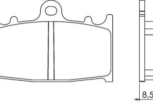 Органические тормозные колодки Brenta FT3062 за 1 300 р.