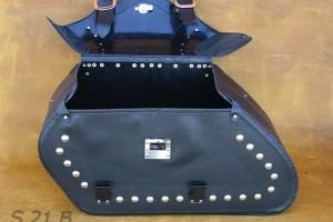 Кожаные боковые кофры c замком для мотоцикла S 21B