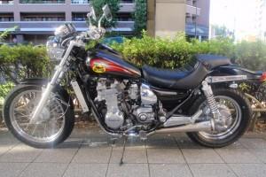 Черный Kawasaki ZL 400 Eliminator 1997