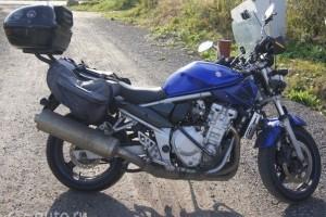 Синий Suzuki Bandit GSF 650 2007