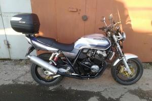 Серебряный Honda CB 400 SF Hyper Vtec 2001