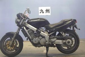 Черный Honda Bros 400 1990