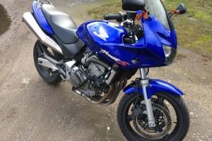 Синий Honda CB 600 Hornet F 2001