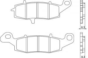 Синтетические тормозные колодки Brenta FT4091 за 2 400 р.