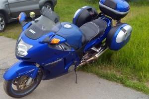 Синий Honda CBR 1100 XX Super BlackBird 2002