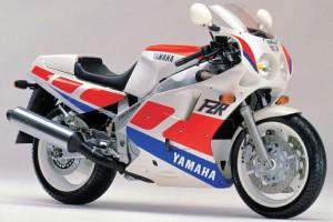 Красный Yamaha FZR 1000 1989