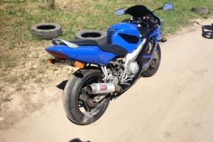 Синий Honda CBR 600 F4i 2002