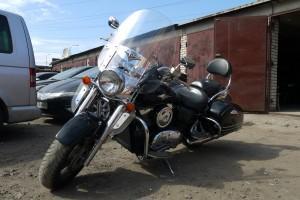 Черный металлик Kawasaki VN 1600 Nomad 2006