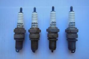 Свечи зажигания Denso X24EPR-U9 б/у за 50 р.