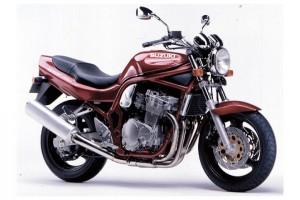Красный Suzuki GSF 750 Bandit 1996