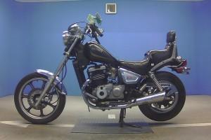 Черный Kawasaki EN 400 Vulcan Classic 1988