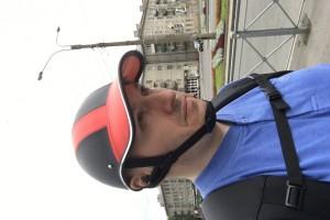 Шлем кепка обтянут кожей размер 57-60см