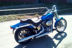 Синий Harley-Davidson FXSTD Softail Deuce 2004