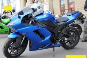 Синий Kawasaki ZX 6 R Ninja 2008, угнан 14 июля 2013 в Всеволожск