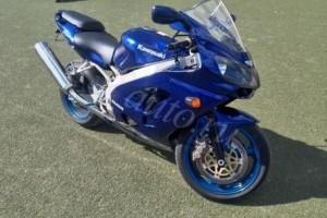 Синий Kawasaki ZX 6 R Ninja 2005, угнан 6 июня 2014