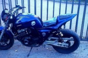 Синий Honda CB 400 SF 1993, угнан 15 ноября 2016 в Санкт-Петербург
