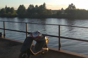 Черный Yamaha Jog 1993, угнан 25 августа 2018 в Кировск