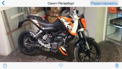 В угоне оранжевый KTM 200 Duke 2012