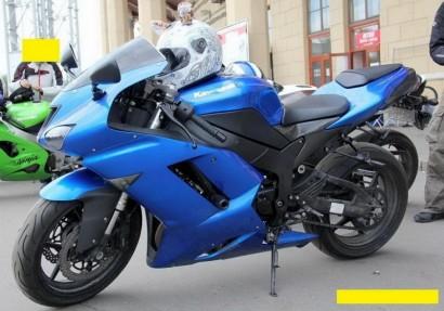 В угоне синий Kawasaki ZX 6 R Ninja 2008