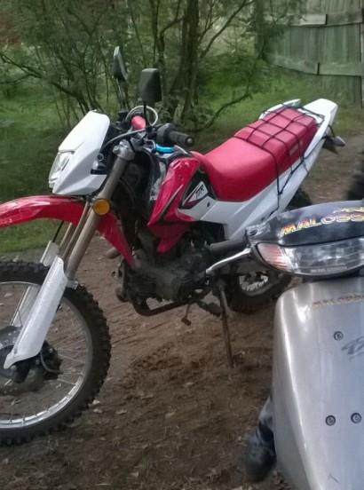 В угоне красный Irbis TTR 250 2014