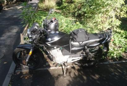 В угоне черный Yamaha YBR 125 2012